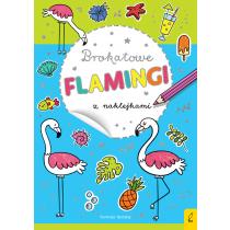 Praca zbiorowa Brokatowe flamingi z naklejkami