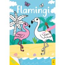 Praca zbiorowa Moja kolorowanka. Flamingi