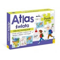 praca zbiorowa Pakiet Atlas Świata: Atlas. Plakat z mapą. Puzzle