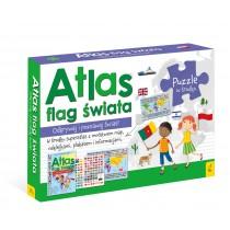 praca zbiorowa Pakiet Atlas flag świata: Atlas. Plakat z mapą. Puzzle