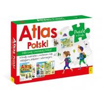 praca zbiorowa Pakiet Atlas Polski: Atlas. Plakat z mapą. Puzzle
