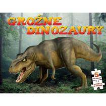 Praca zbiorowa Puzzle. Groźne dinozaury