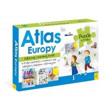 praca zbiorowa Pakiet Atlas Europy: Atlas. Plakat z mapą. Puzzle