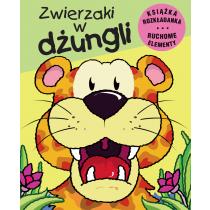 Praca zbiorowa Zwierzaki w dżungli. Książka rozkładana. Ruchome Elementy