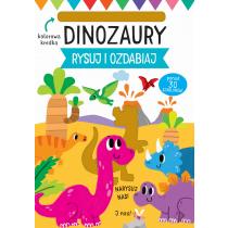 Praca zbiorowa Rysuj i ozdabiaj. Szablony. Dinozaury
