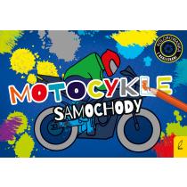 Praca zbiorowa Kolorowanki z naklejkami. Motocykle i samochody